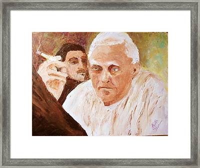 Portugese Stories Framed Print by Keith Thue