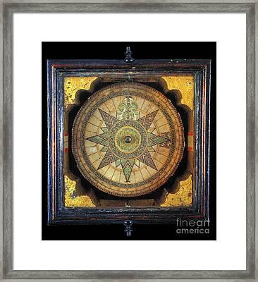 Portuguese Compass, 1711 Framed Print by Granger