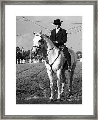 Portuguese Horse Rider Framed Print by Gaspar Avila