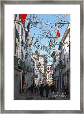 Portuguese Street Framed Print by Gaspar Avila