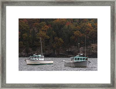 Poseidon And Eagle Framed Print by Juergen Roth