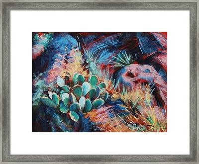 Positively Prickly Framed Print by Peggy Wrobleski