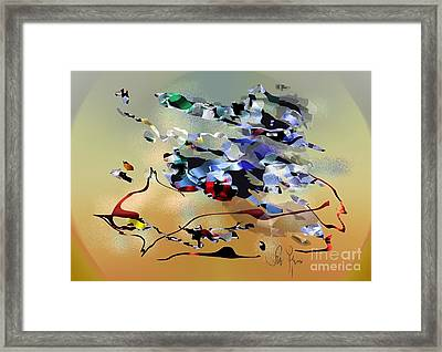 Framed Print featuring the digital art Possibilities by Leo Symon