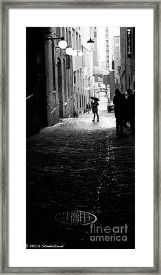 Framed Print featuring the photograph Post Alley by Mitch Shindelbower