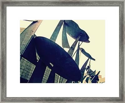 Post Alley Poppies Framed Print by Leanna Lomanski