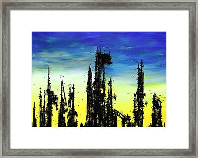 Post Apocalyptic Skyline 2 Framed Print by Jera Sky