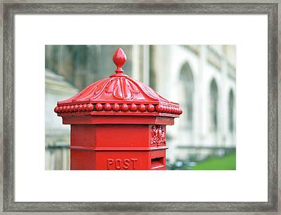 Post Box ,royal Mail Framed Print by Denise Couturier
