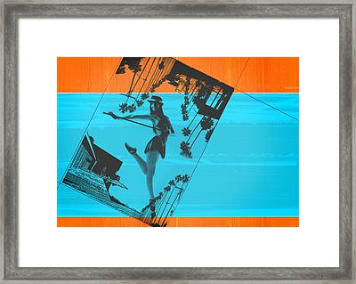 Post Card From La Framed Print by Naxart Studio