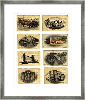 Post Cards From Europe 2 Framed Print by Cecil Fuselier