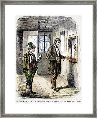Post Office, C1860 Framed Print
