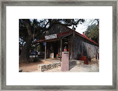 Post Office In Luckenbach Texas Framed Print