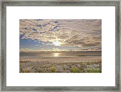 Framed Print featuring the photograph Post-tourist Sunrise Ocean City by Jim Moore