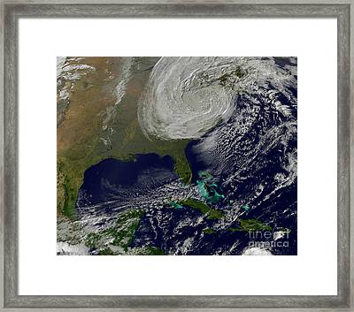 Post Tropical Storm Sandy Rolling Framed Print