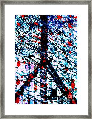 Postal Cancellation Peace Framed Print by Robert Haigh