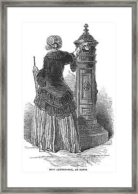 Postal Services, 1850 Framed Print