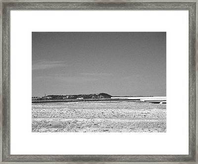 Postcard From The Edge Of Town Framed Print