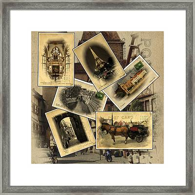 Postcards From Europe Framed Print by Cecil Fuselier