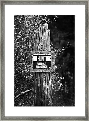 Framed Print featuring the photograph Posted by Randall  Cogle