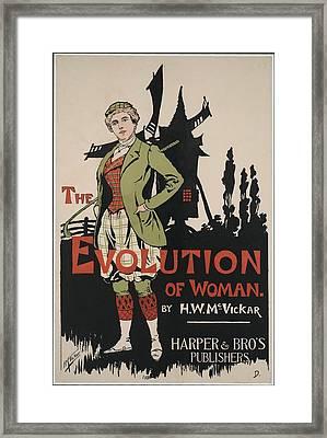 Poster Advertising The Evolution Of Framed Print by Everett