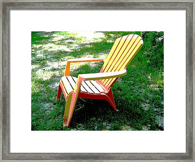 Poster Chair Framed Print by Regina McLeroy