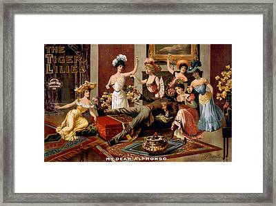 Poster For American Play, The Tiger Framed Print by Everett