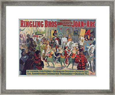 Poster For Ringling Bros. Circus Framed Print by Everett