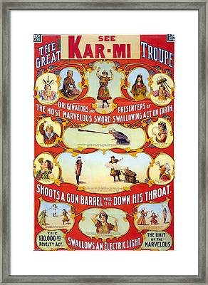Poster For Stage And Magic Show, The Framed Print by Everett
