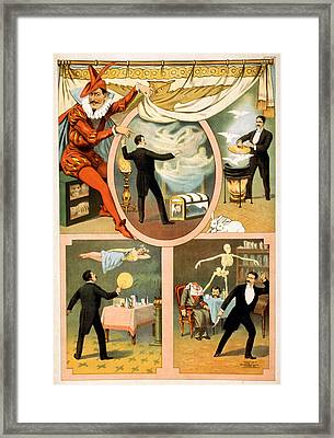 Poster For Stage And Magic Show, Zan Framed Print by Everett