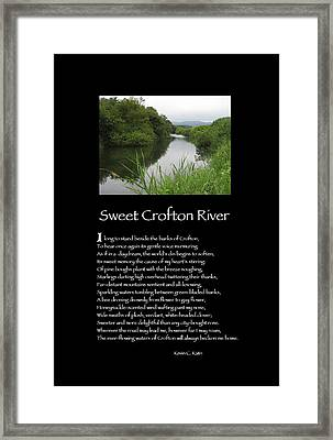 Poster Poem - Sweet Crofton River Framed Print by Poetic Expressions