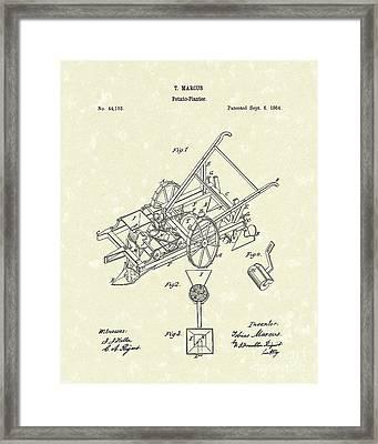 Potato Planter 1864 Patent Art Framed Print