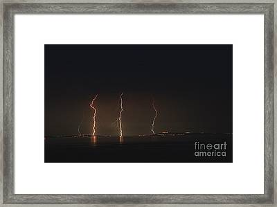 Potland Under Fire.  Framed Print