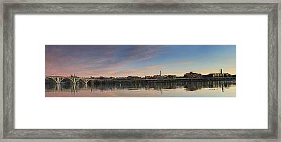 Potomac River Panorama - Washington Dc Framed Print by Brendan Reals