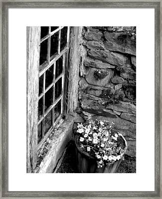 Pots And Panes Framed Print