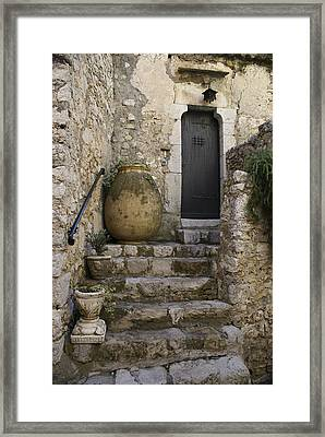 Pots On The Porch Framed Print