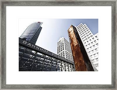 Potsdamer Platz Berlin Framed Print by Melanie Viola
