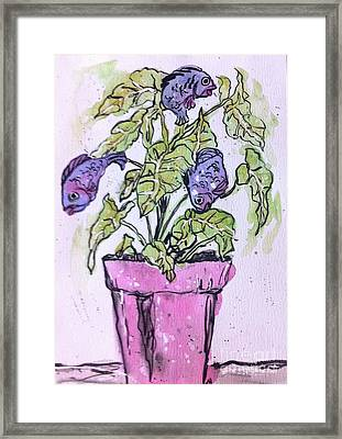 Potted Fish Framed Print