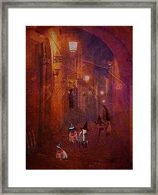 Framed Print featuring the digital art Potter Halloween Sheep by Jean Moore