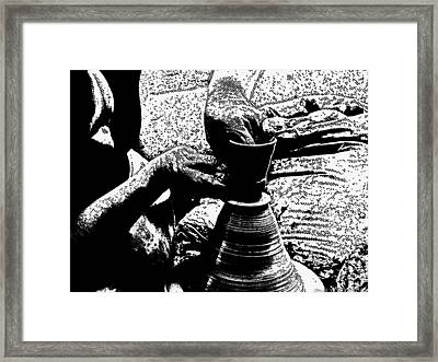 Potter In Comic Book Style Framed Print by James Stanfield