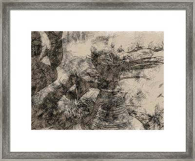 Potter In Pastel Art Sketch Style Framed Print