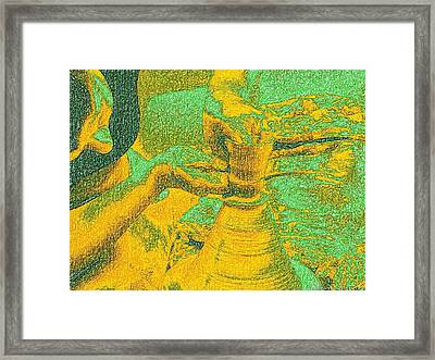 Potter In Van Gogh Bright Style Framed Print by James Stanfield