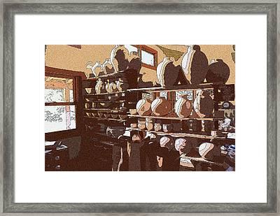 Potter's Shelf Framed Print