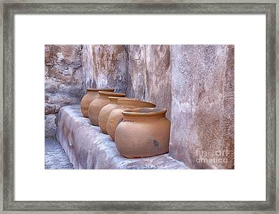 Pottery Of The Past Framed Print by Sandra Bronstein