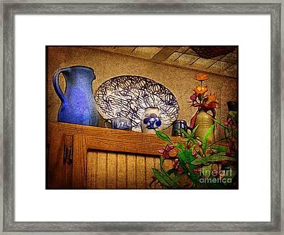 Pottery Still Life Framed Print by Judi Bagwell