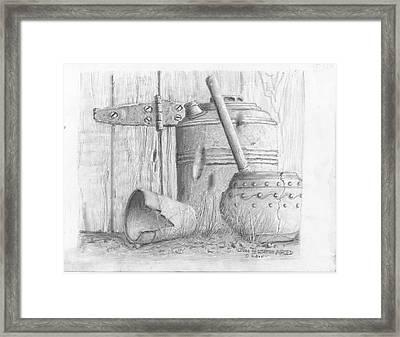 Potting Shed Framed Print by Jim Hubbard