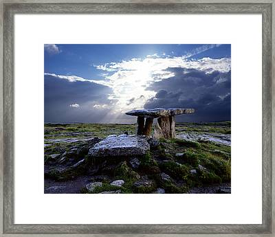Poulnabrone Dolmen, County Clare Framed Print by Chris Hill