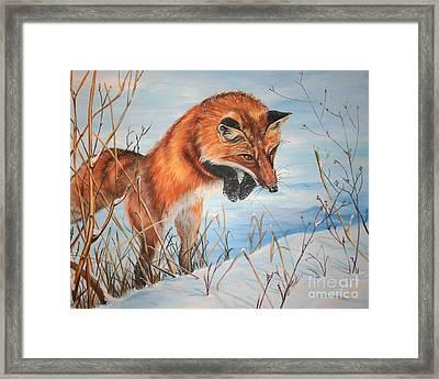 Pounce Framed Print by Darlene Watters