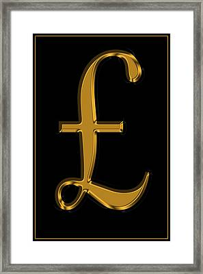Pound Sterling In Gold Framed Print by Andrew Fare