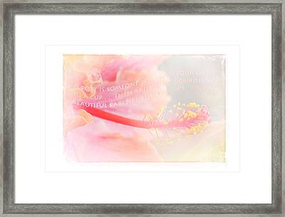 Pouring Light Framed Print by Sharon Mau