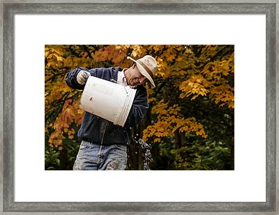 Pouring Wine Framed Print by Jean Noren