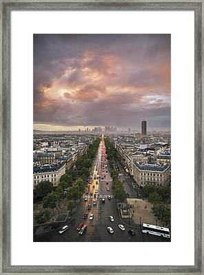 Pov From Arch Of Triumph Framed Print by © Yannick Lefevre - Photography